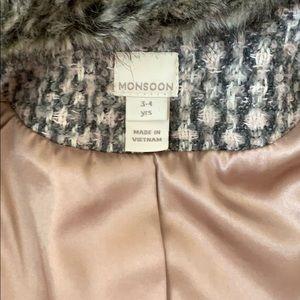 Monsoon Jackets & Coats - Monsoon girl coat size 3-4yrs